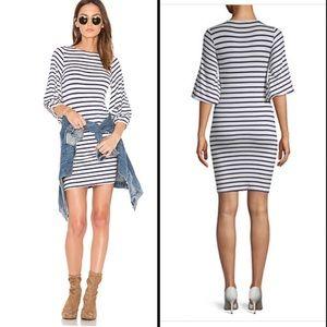 Rachel Pally Sailor Stripe Wide Sleeve Dress